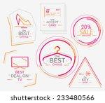 minimal line design shopping... | Shutterstock . vector #233480566