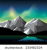 northern light glowing over the ... | Shutterstock .eps vector #233482324