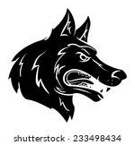 wolf mascot | Shutterstock . vector #233498434