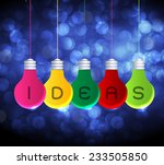 vector colorful light bulb... | Shutterstock .eps vector #233505850