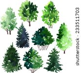 Set Of Trees Drawing By...