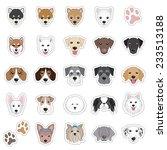 illustrations of dog face | Shutterstock .eps vector #233513188