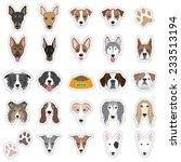 illustrations of dog face | Shutterstock .eps vector #233513194