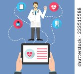 medicine web concept with a... | Shutterstock .eps vector #233515588