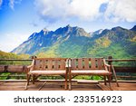 bamboo wood chair with the... | Shutterstock . vector #233516923