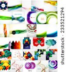 set of abstract backgrounds ... | Shutterstock .eps vector #233521294