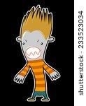 zombie on black background   Shutterstock .eps vector #233523034