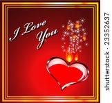 vector valentines background...   Shutterstock .eps vector #23352637