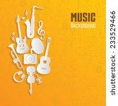 music background. vector... | Shutterstock .eps vector #233529466