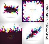 vector set obstraktnyh bright... | Shutterstock .eps vector #233530060