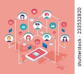 social network communication... | Shutterstock .eps vector #233532820
