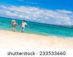 young happy couple running by... | Shutterstock . vector #233533660