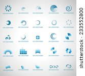 air conditioner icons set  ... | Shutterstock .eps vector #233552800