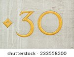 number 30 on a wall | Shutterstock . vector #233558200