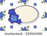 retro frame with abstract roses.... | Shutterstock .eps vector #233562400