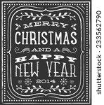 chalk christmas card   vintage...