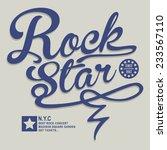 music rock typography  t shirt...   Shutterstock .eps vector #233567110