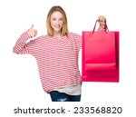 woman hold with shopping bag... | Shutterstock . vector #233568820