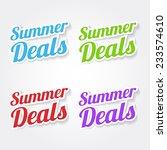 summer deals colorful vector... | Shutterstock .eps vector #233574610