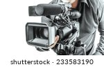 video operator isolated on a... | Shutterstock . vector #233583190