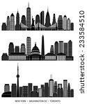 city skyline detailed... | Shutterstock .eps vector #233584510