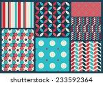 bright vector geometric pattern  | Shutterstock .eps vector #233592364