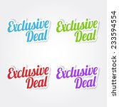 exclusive deal colorful vector... | Shutterstock .eps vector #233594554