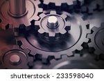 concept of teamwork  gears...   Shutterstock . vector #233598040