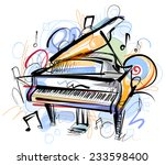 piano sketch | Shutterstock .eps vector #233598400