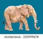 elephant triangle low polygon... | Shutterstock .eps vector #233599678