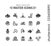 water icons set. | Shutterstock .eps vector #233600890