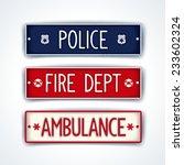 ar license plate for... | Shutterstock .eps vector #233602324