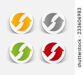 realistic design element  arrow ... | Shutterstock . vector #233606983
