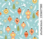 christmas and new year's... | Shutterstock .eps vector #233607580