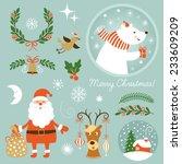 christmas clip art.  | Shutterstock .eps vector #233609209