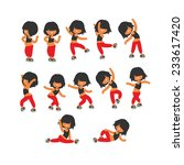 Different Poses  Sporty Dancin...