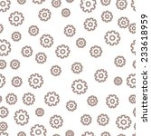 seamless background with gears. | Shutterstock .eps vector #233618959
