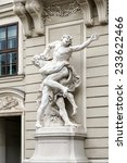 Small photo of VIENNA, AUSTRIA/EUROPE - SEPTEMBER 22 : Statue of Hercules fighting Antaeus at the Hofburg in Vienna on September 22, 2014.
