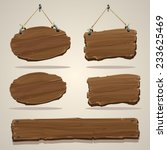 wood board on the rope. vector... | Shutterstock .eps vector #233625469