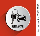rent a car over white... | Shutterstock .eps vector #233628763