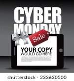 cyber monday ad layout with... | Shutterstock .eps vector #233630500