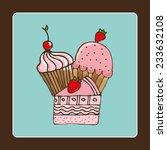 pastry graphic design   vector... | Shutterstock .eps vector #233632108