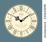 Vintage Clock. Vector...