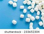 small round white marshmallows... | Shutterstock . vector #233652304