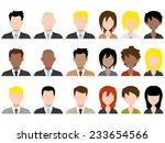 different male and female... | Shutterstock .eps vector #233654566