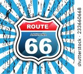 route 66 sign set   origami  ... | Shutterstock .eps vector #233660668