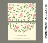 vector business card template.... | Shutterstock .eps vector #233666848