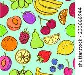 fresh fruit seamless pattern...   Shutterstock .eps vector #233666944