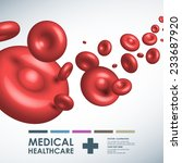 vector red blood medical... | Shutterstock .eps vector #233687920