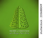 elegant christmas tree  cut... | Shutterstock .eps vector #233688049